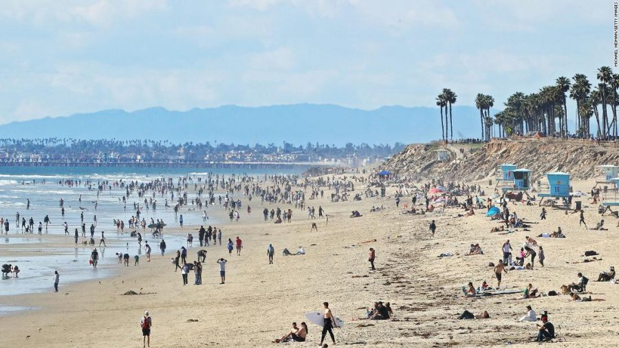 Californians+Flock+to+Newly+Opened+Beaches