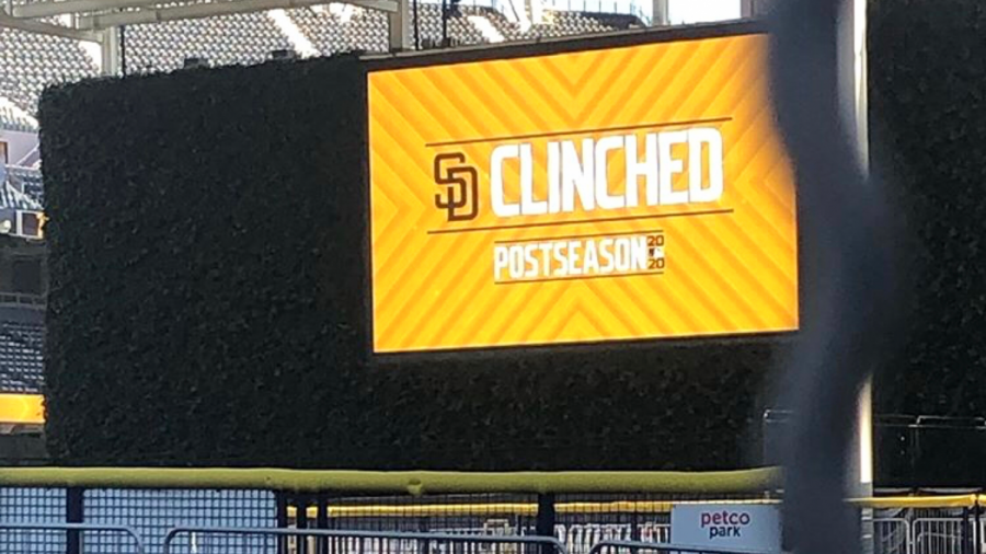 The+San+Diego+Padres+clinch+the+postseason+on+Sunday%2C+Sept.+20+at+Petco+Park.+
