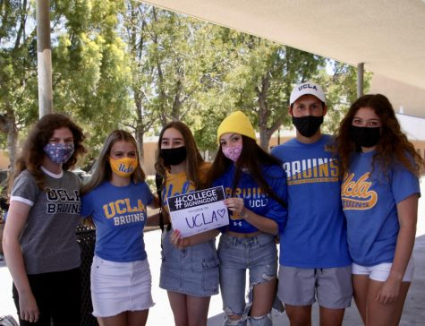 Soon to be UCLA Bruins, Poway Seniors pose for college signing day.