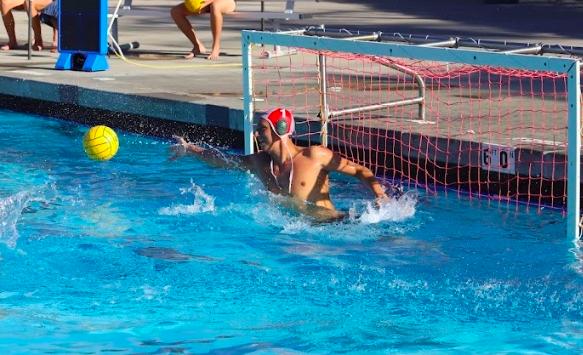 Goalie makes a splash