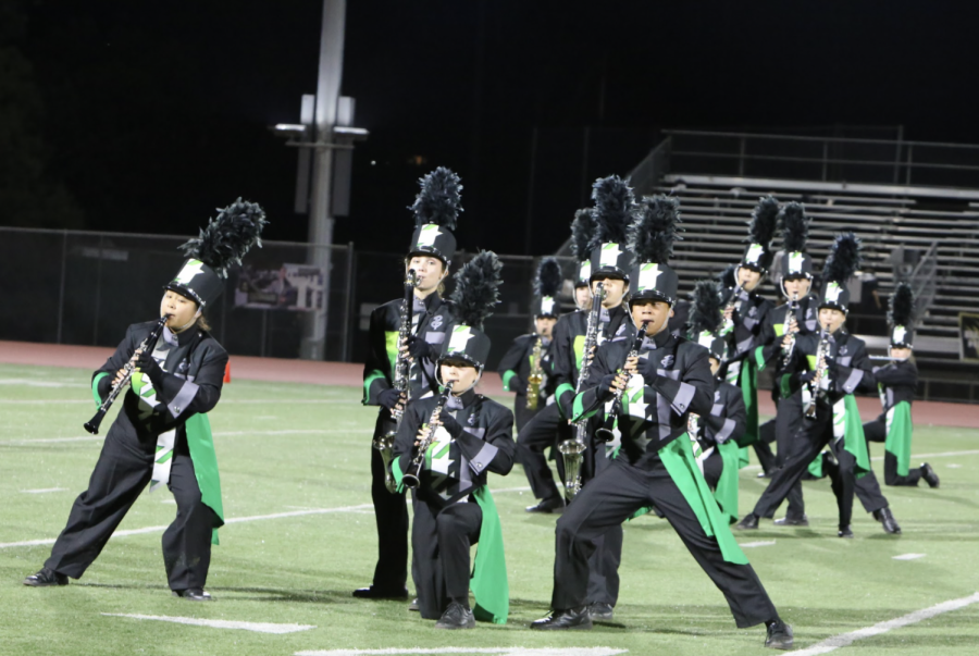 Band performs during half time at Pink-Out game on Oct. 15